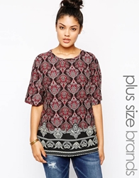 Alice And You Border Print Tee Multi