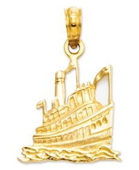 Macy's 14K Gold Charm Cruise Ship Charm