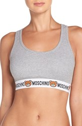 Moschino Women's Cotton Bralette Grey