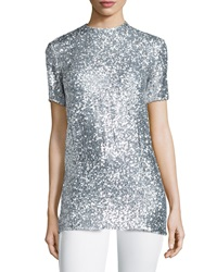 Nina Ricci Allover Sequin Short Sleeve Tee