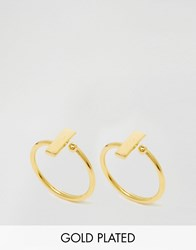Ottoman Hands Rectangle Symbol Rings Gold