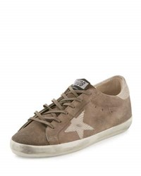 Golden Goose Distressed Leather Star Sneaker Gray Mix Grey Mix