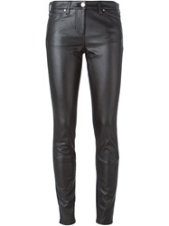 Roberto Cavalli Coated Front Skinny Jeans Black