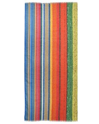 Akris Tulip Striped Cashmere Blend Scarf Multi Colors