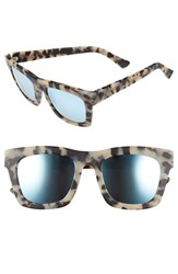Electric Eyewear Women's Electric 'Crasher' 61Mm Retro Sunglasses Nude Tortoise Rose Sky Blue