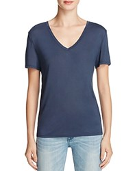 Halston Heritage Solid V Neck Tee Compare At 95 Navy