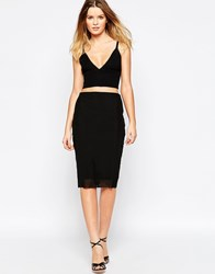 Finders Keepers Stand Still Skirt With Mesh Detail Black