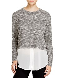 Michael Stars Crew Neck Crop Chiffon Layer Sweater Bloomingdale's Exclusive