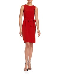 Nipon Boutique Colorblocked Panel Sheath Dress Fire Red