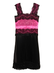 Christopher Kane Lace And Tulle Pleated Dress