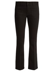 Stella Mccartney Low Rise Skinny Kick Flare Cropped Jeans Black