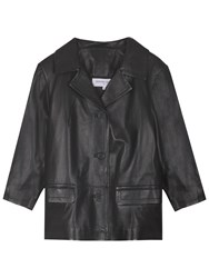 Gerard Darel Seine Leather Jacket Black