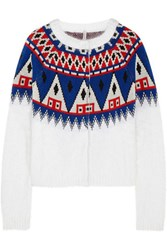 Finds Aimo Richly Wool And Angora Blend Cardigan White