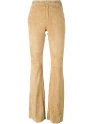 Drome Flared Trousers Nude And Neutrals