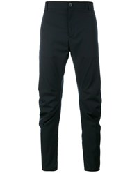 Lanvin Wool Blend Biker Pants Navy Black Grey White
