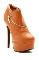 Red Circle Sofia Zip Platform Bootie Brown