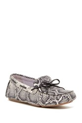Johnston And Murphy Maggie Camp Snake Embossed Moccasin Multiple Widths Available White