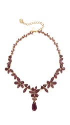 Kate Spade To The Nines Statement Necklace Amethyst