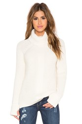 525 America Thumbhole Loose Turtleneck Sweater Cream