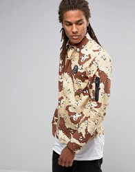 Aape By A Bathing Ape Shirt With All Over Camo Print In Regular Fit Brown