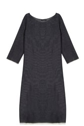 The Row Gauze Dress Black