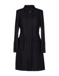 Elisabetta Franchi Full Length Jackets Black