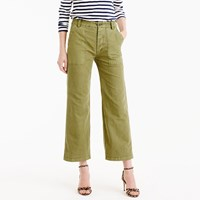 J.Crew Cropped Wide Leg Pant In Linen Cotton
