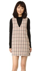 Ganni Duncan Check Dress Vanilla Ice Check