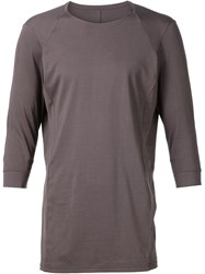 Devoa Raglan Panel T Shirt Grey