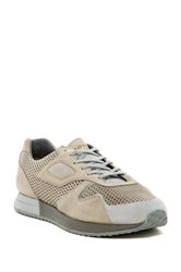 Pony Mesh Suede Calf Hair Panel Laced Sneaker Gray