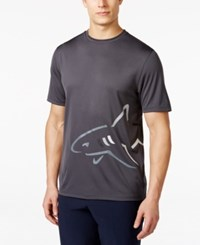 Greg Norman For Tasso Elba Men's Wrap Shark T Shirt Only At Macy's Storm Grey