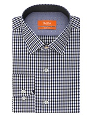 Tallia Orange Slim Fit Plaid Sportshirt Blue