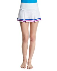 Lucas Hugh Pixel Perforated Mesh Sport Skort White