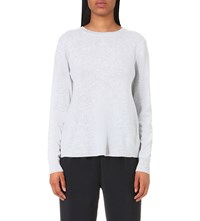 Clu Lace Panel Wool And Cashmere Blend Jumper Heather Grey