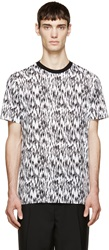 Lanvin Black And White Feather Print T Shirt