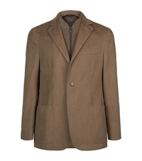 Corneliani Detachable Cashmere Jacket Male Beige