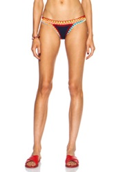 Kiini Tasmin Poly Blend Bikini Bottom In Blue Neon