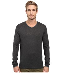 Agave Alma Long Sleeve Supima Modal Fine Gauge Charcoal Men's Long Sleeve Pullover Gray