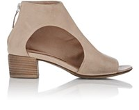 Marsell Women's Cutout Open Toe Ankle Boots Nude Size 9.5
