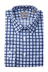 John W. Nordstrom Long Sleeve Trim Fit Dress Shirt Blue