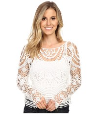 Ariat Isle Cropped Sweater Snow White Women's Sweater