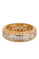 Pave Cz Eternity Band Metallic