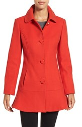 Kate Spade Women's New York Twill Ruffle Hem Coat