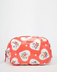 Cath Kidston Classic Box Make Up Bag Lace Hearts Lace Hearts Clear