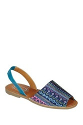 Refresh Clori Printed Flat Sandal Blue