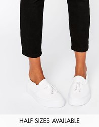 Asos Dongle Slip On Toggle Trainers White