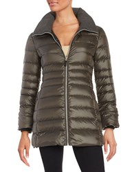 Marc New York Erin Puffer Coat Olive Green