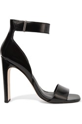 Halston Marylan Leather Sandals Black