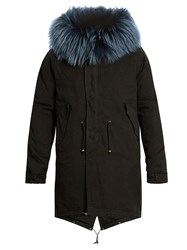 Mr And Mrs Italy Fur Lined Canvas Parka Black Multi