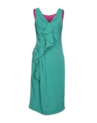 Ivan Montesi Knee Length Dresses Green